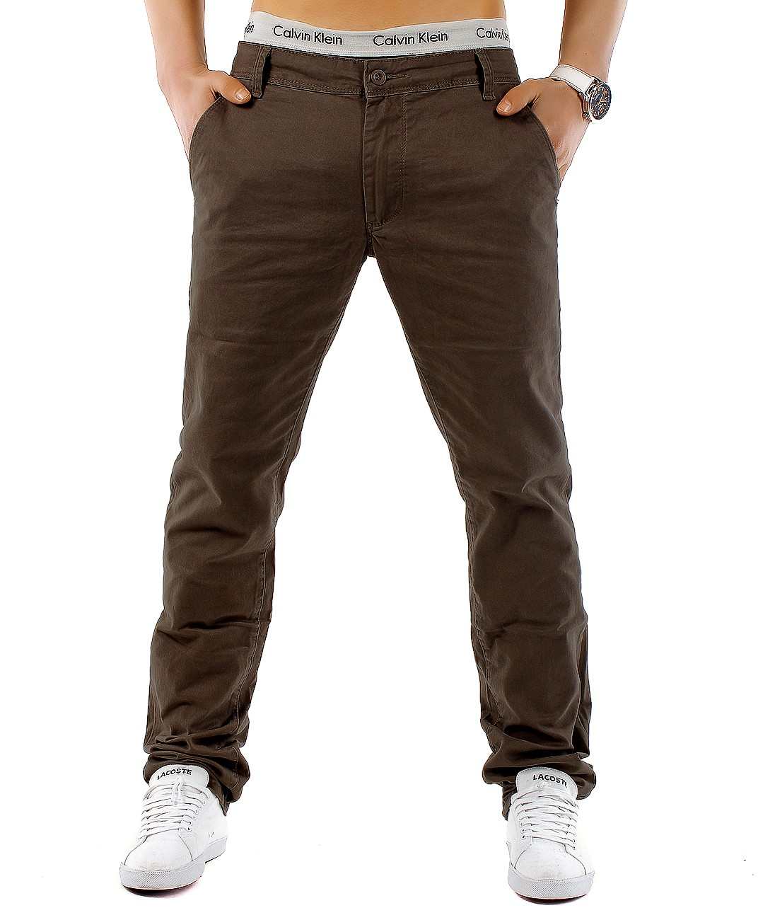 CHINO Trendstr Stil Hose Regular Fit Chinohose Jeans Trousers Classic Plus