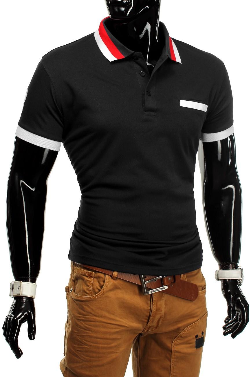 Herren Poloshirt T-Shirt Polo Polohemd Stretch Slim fit Clubwear Shirt FIGO