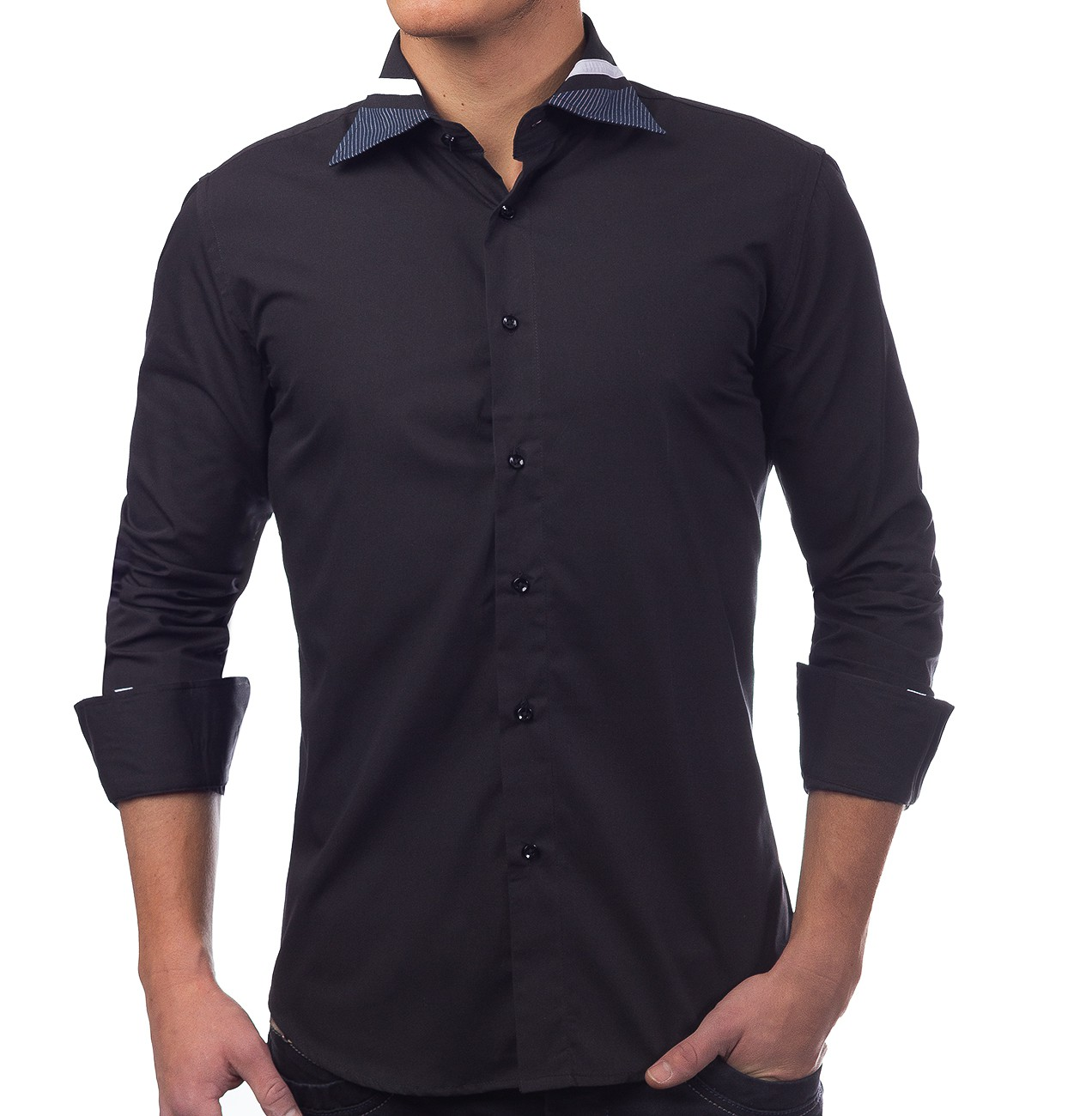 herren hemd langarm poloshirt slim fit freizeithemd casual. Black Bedroom Furniture Sets. Home Design Ideas