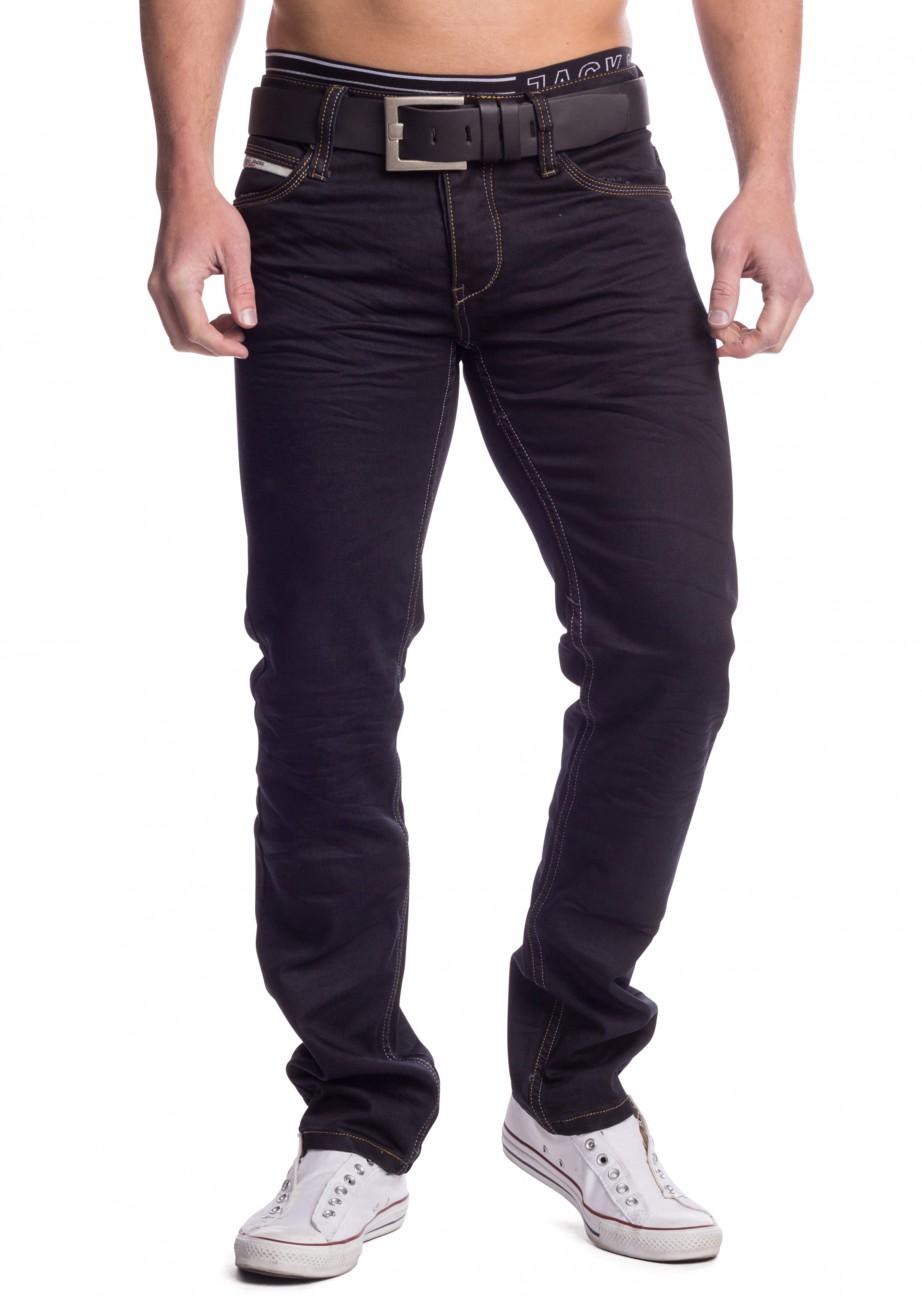 herren jeans schwarz colored denim slim fit straight leg stretch hose ebay. Black Bedroom Furniture Sets. Home Design Ideas