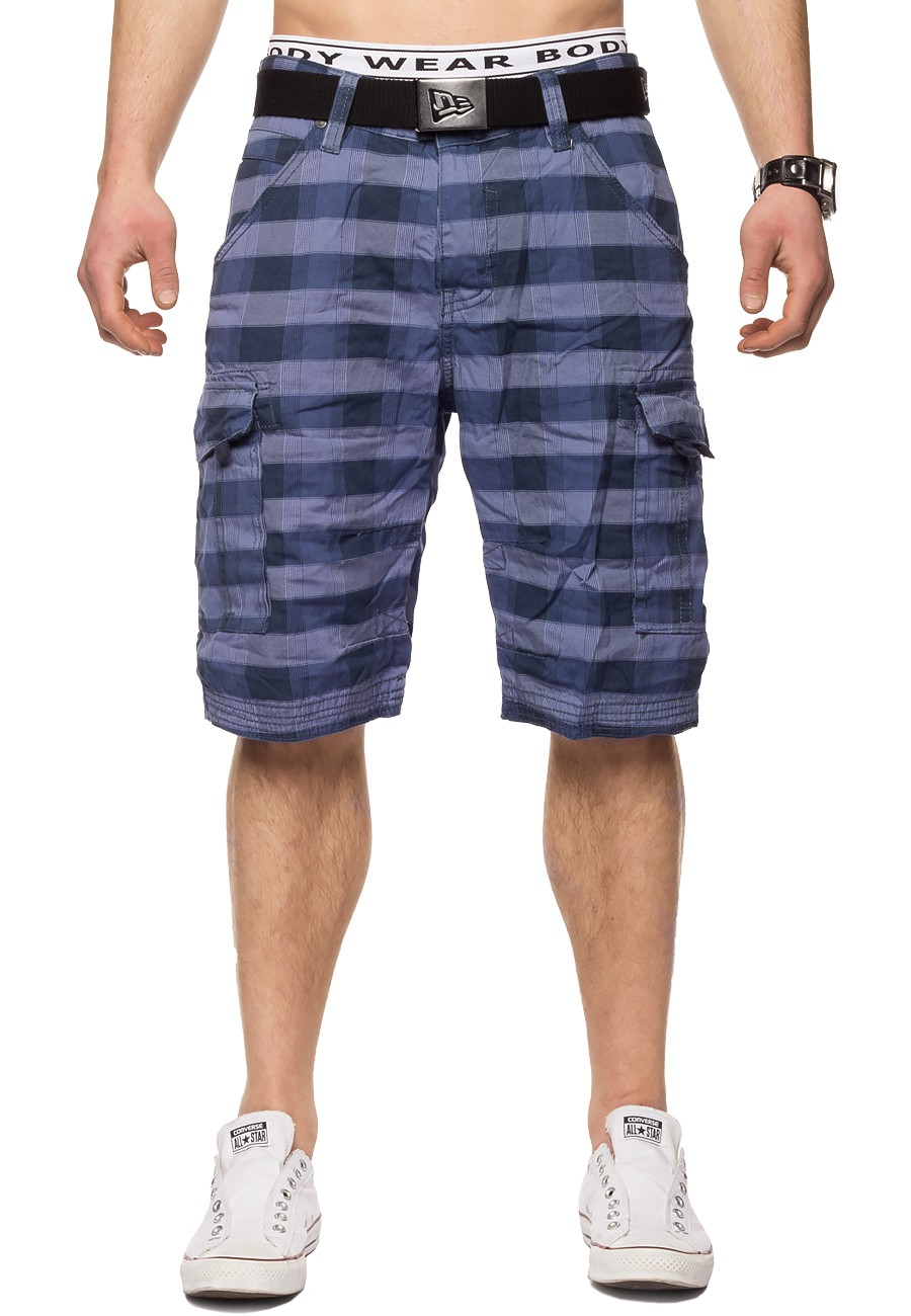 herren surfer cargo shorts kurze hose sommer bermuda kariert skater 5 farben ebay. Black Bedroom Furniture Sets. Home Design Ideas