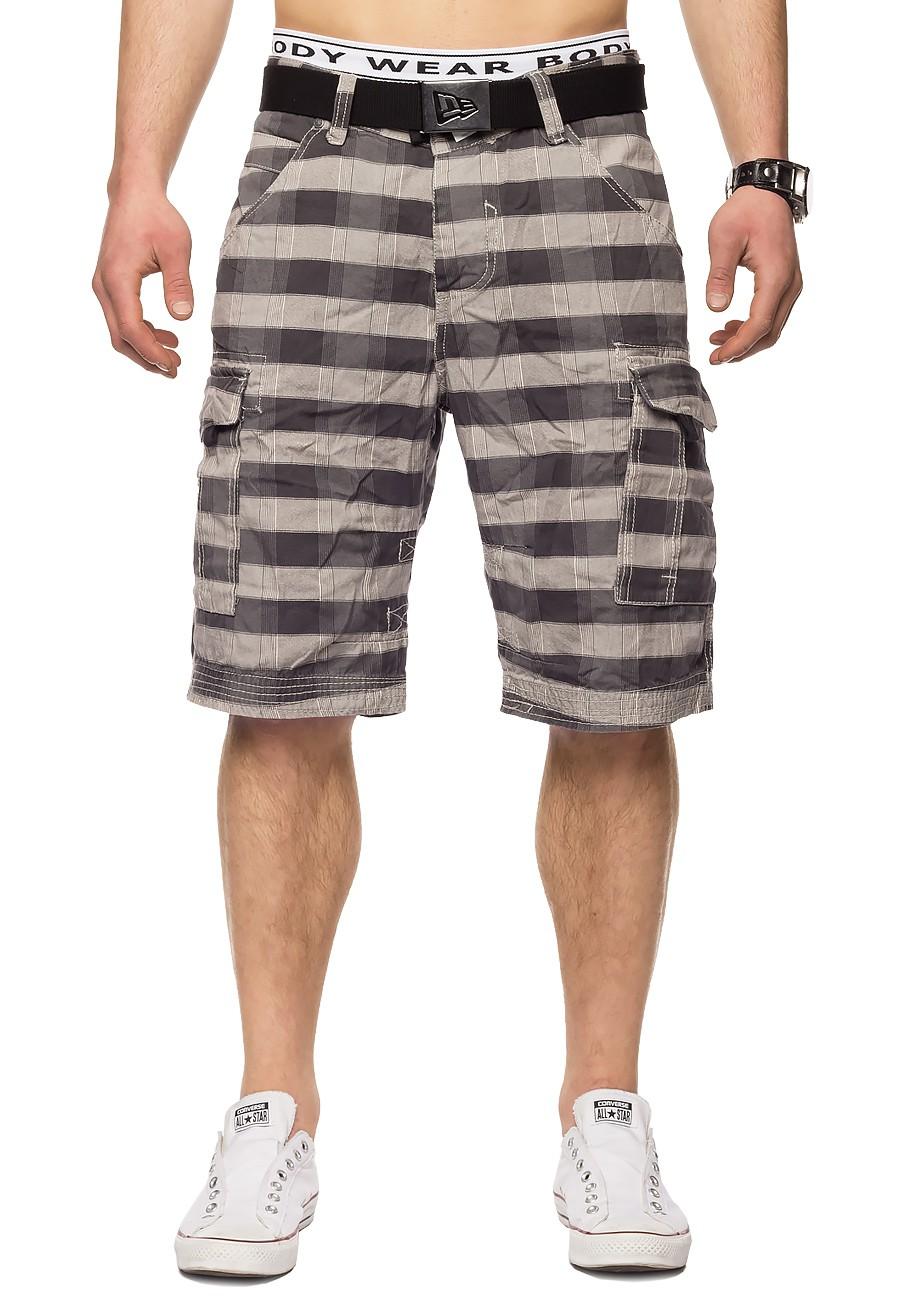 herren surfer cargo shorts kurze hose sommer bermuda kariert skater 5 farben ebay. Black Bedroom Furniture Sets. Home Design Ideas