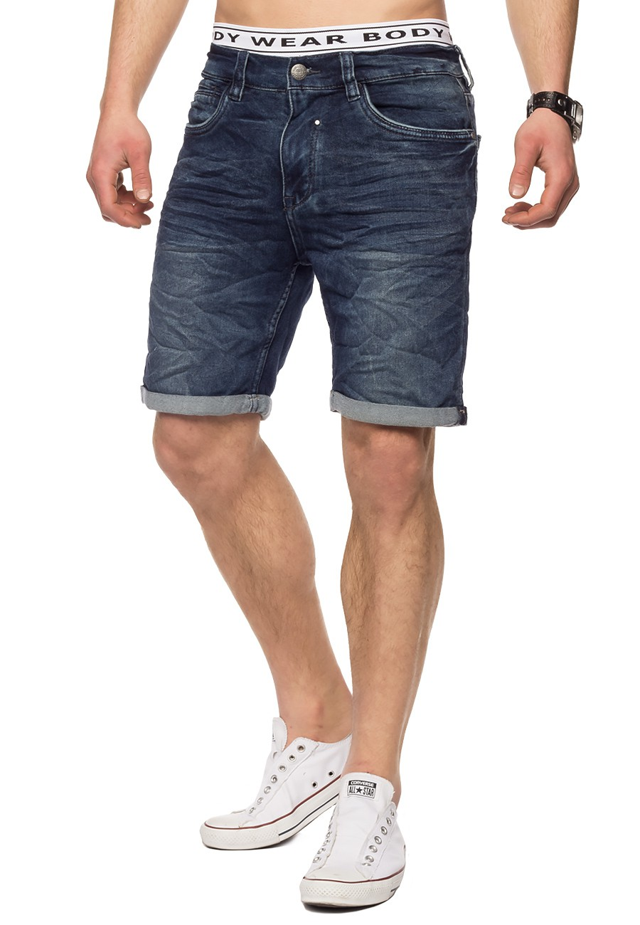 herren denim jeans shorts kurz stretch dehnbar hose elastisch slim fit joggjeans ebay. Black Bedroom Furniture Sets. Home Design Ideas