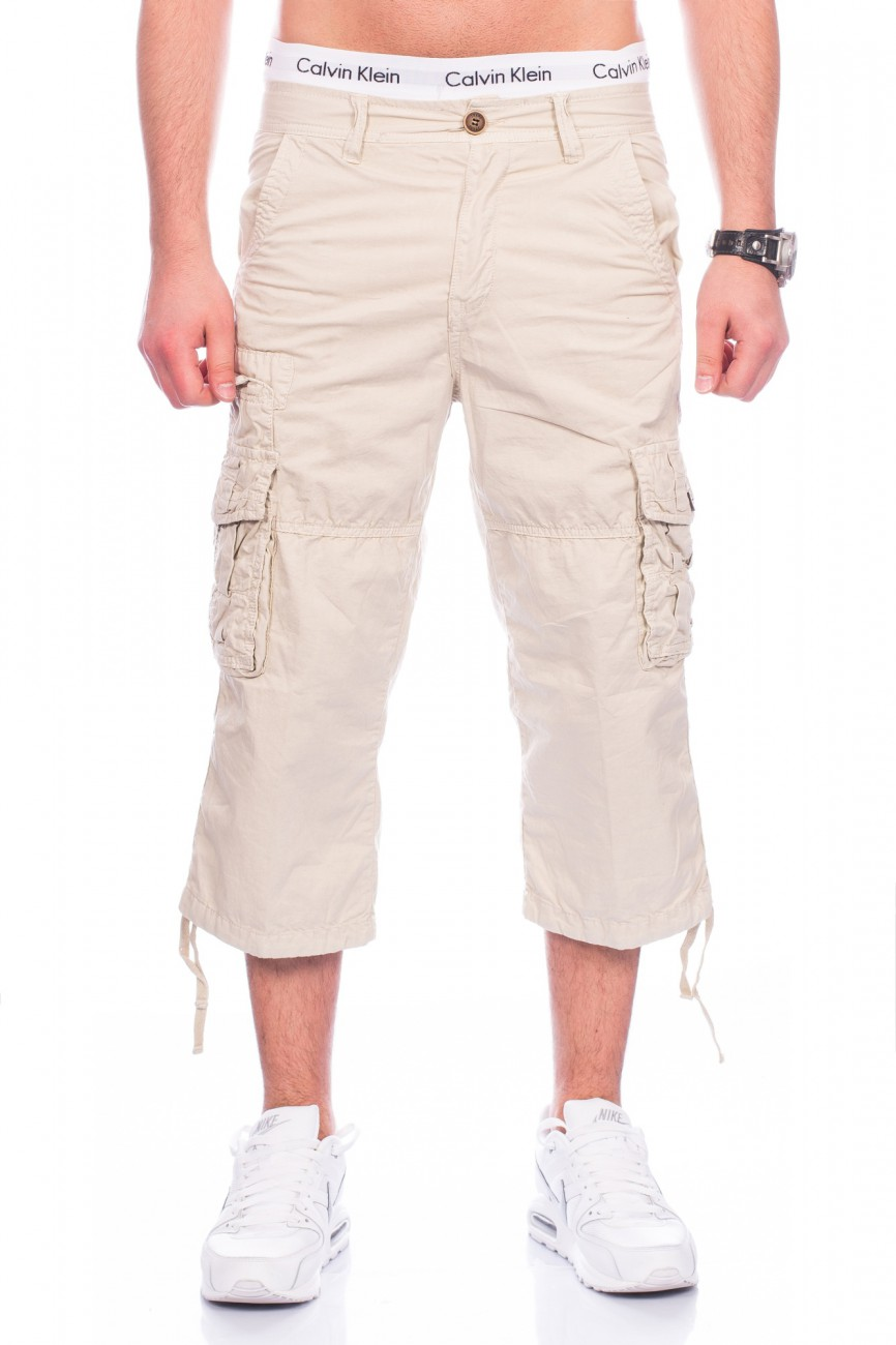 herren bermudas cargo shorts kurze hose 100 baumwolle sommer jeans caprihose ebay. Black Bedroom Furniture Sets. Home Design Ideas