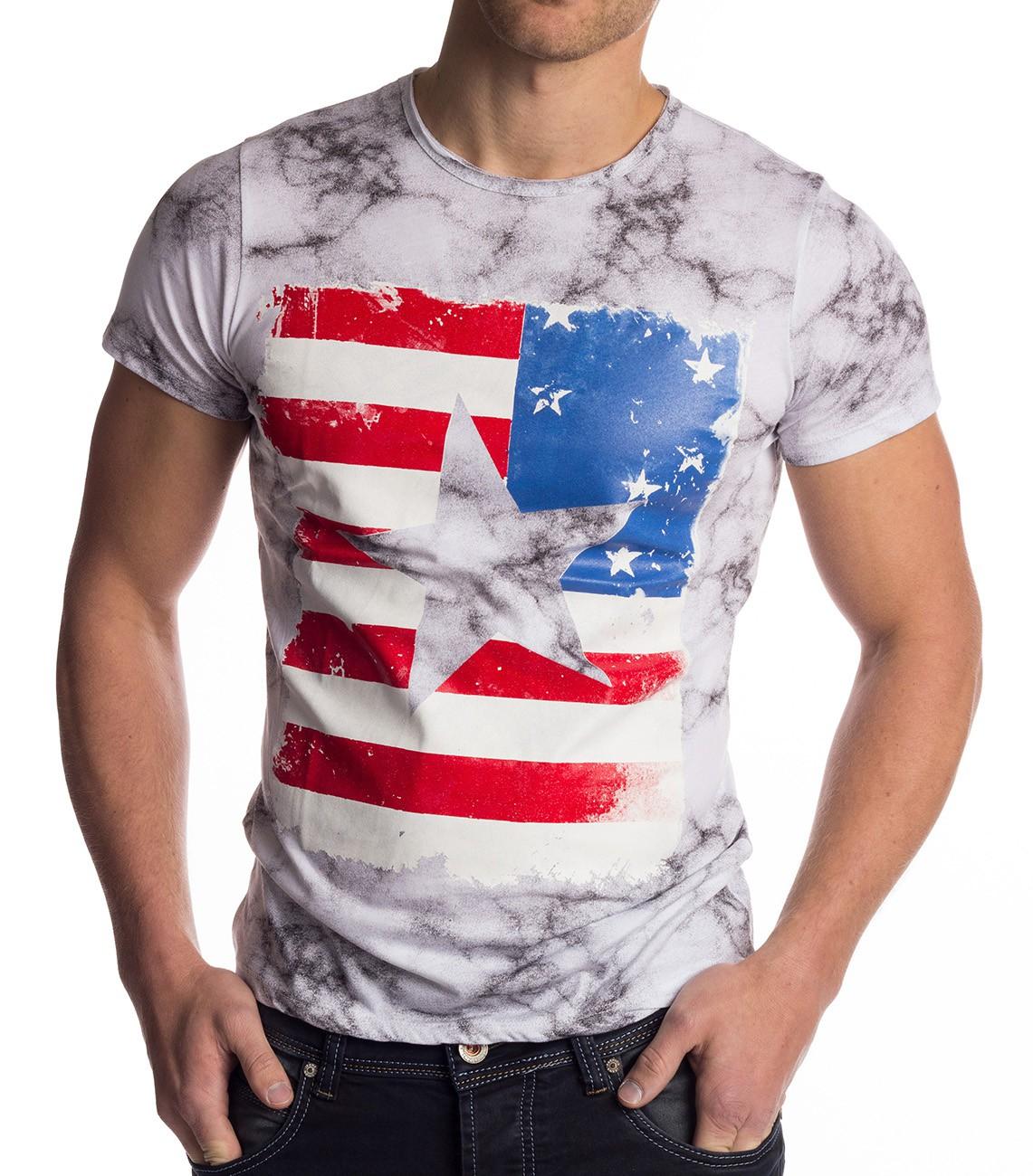Mens vintage t shirt america flag usa short sleeve shirt for Mens shirt with stars