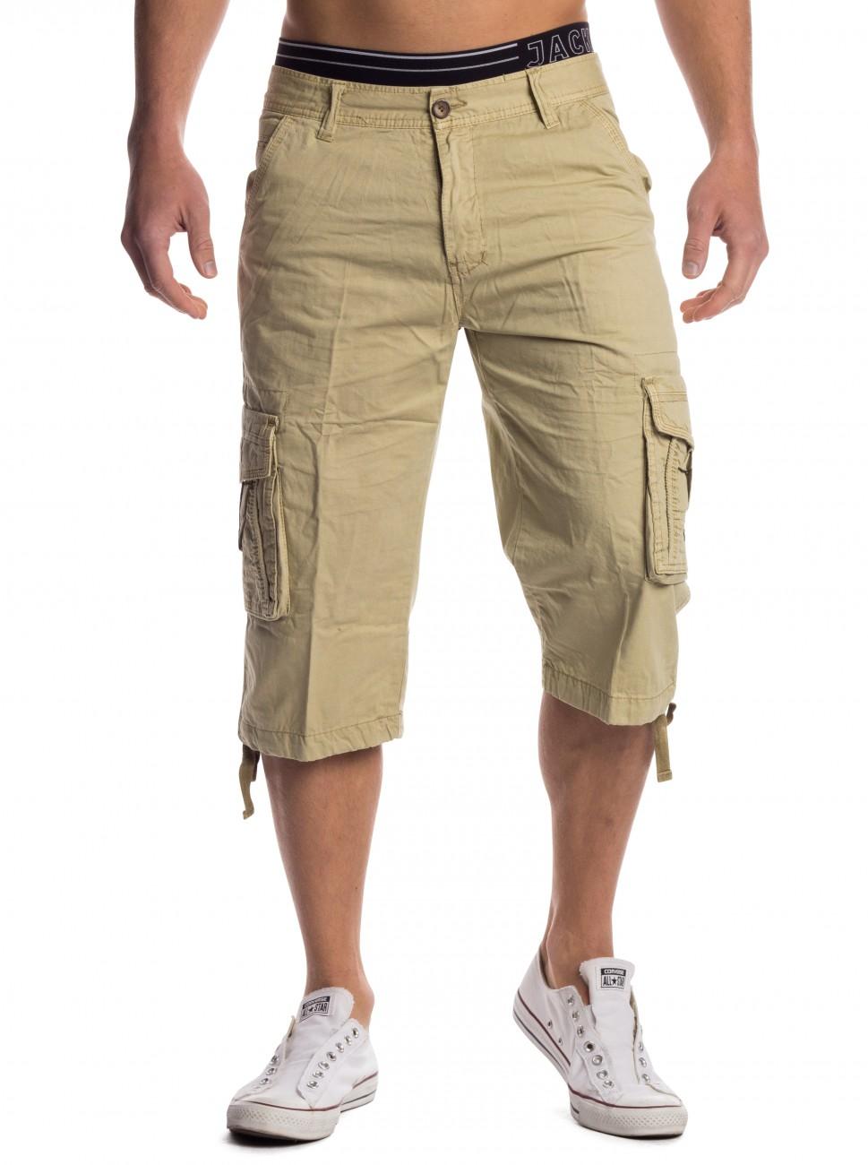 herren caprihose shorts 3 4 hose cargoshorts capri 100 baumwolle bermuda cargo ebay. Black Bedroom Furniture Sets. Home Design Ideas