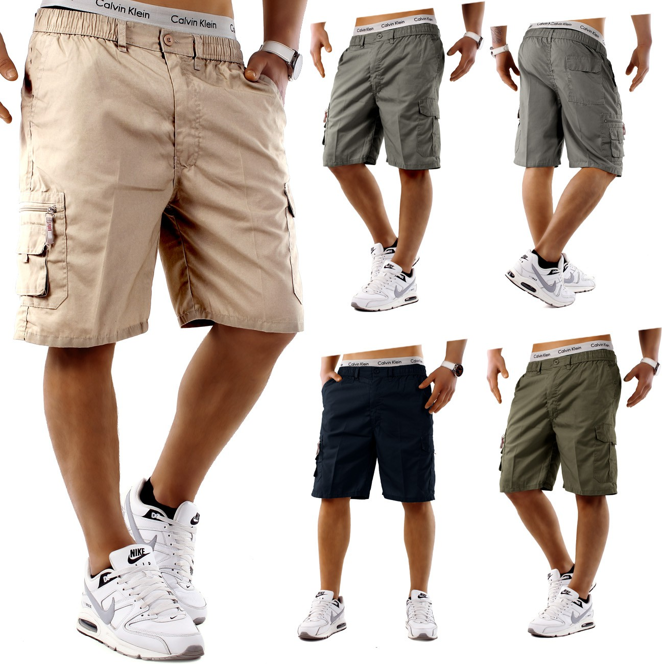 herren shorts freemen bermuda cargo capri kurze hose vintage short casual ebay. Black Bedroom Furniture Sets. Home Design Ideas