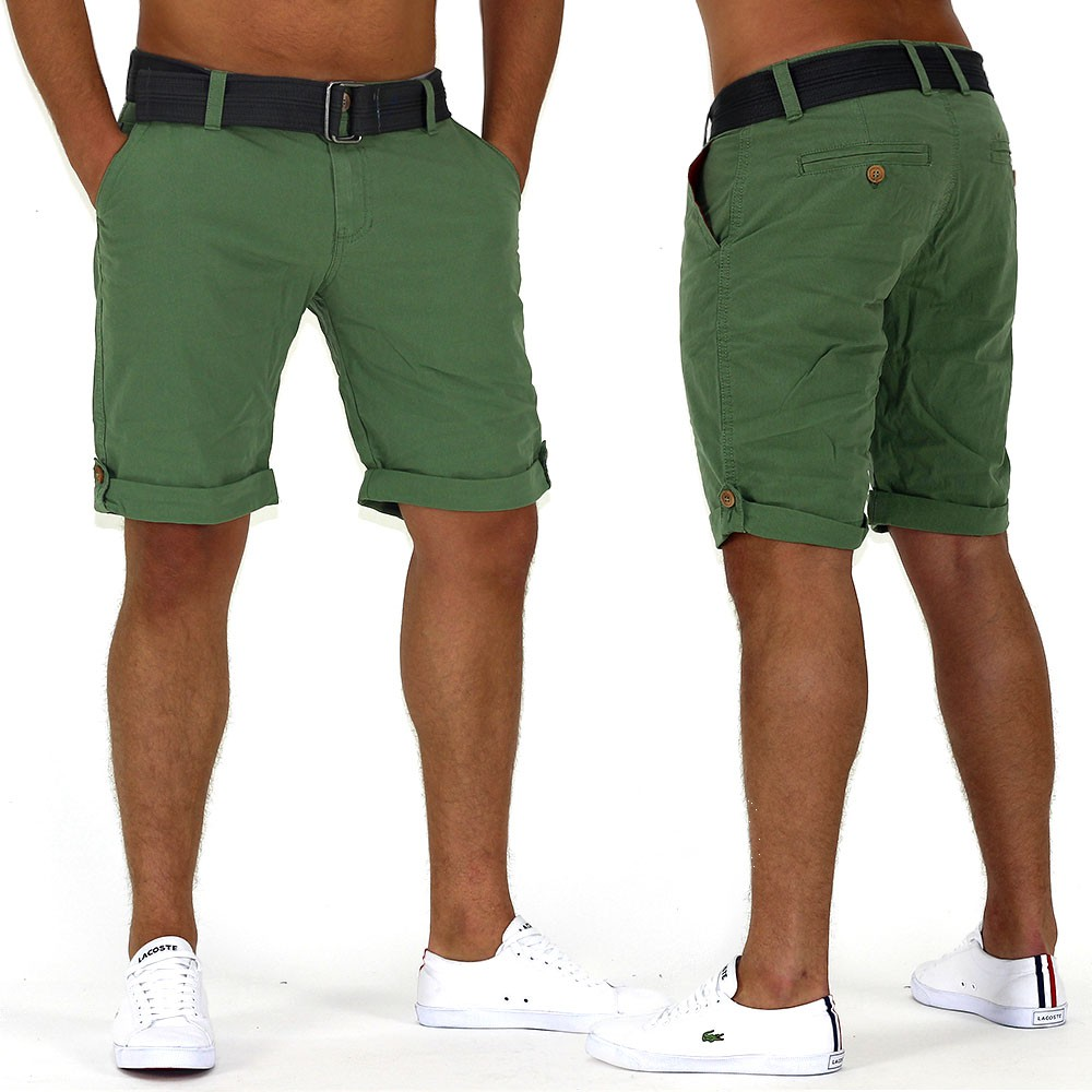 herren capri bigbang jeans bermuda cargo shorts kurze hose short mit g rtel ebay. Black Bedroom Furniture Sets. Home Design Ideas