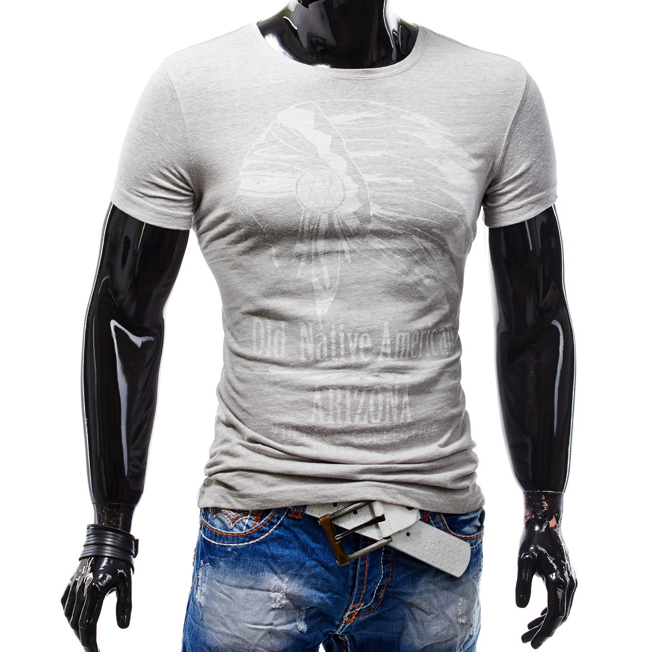 herren kurzarm t shirt polo stretch slim fit clubwear shirt arizona. Black Bedroom Furniture Sets. Home Design Ideas