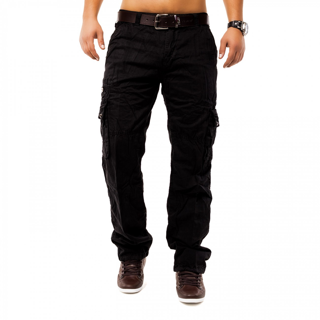 Cargo Hose Jeans Loose Fit Chinohose Cargohose Work Trousers Indy Jones Plus