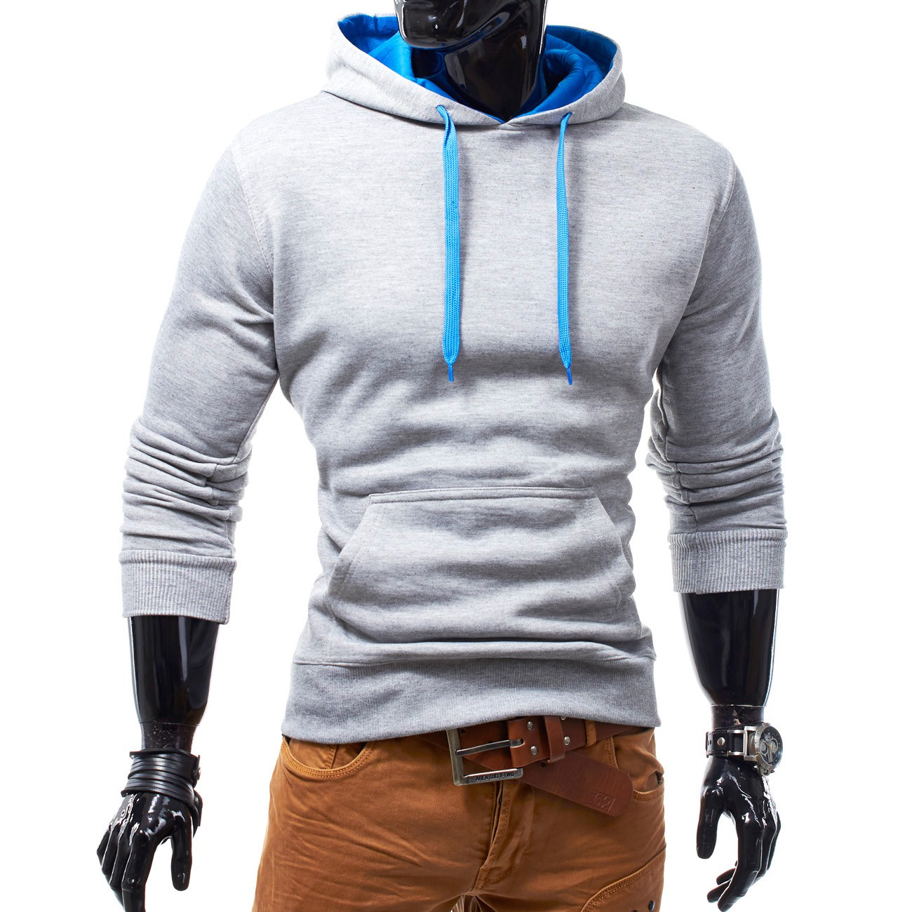 Herren & Damen Kapuzenpullover Basic Hoodie Sweatjacke Pullover Fit & Home