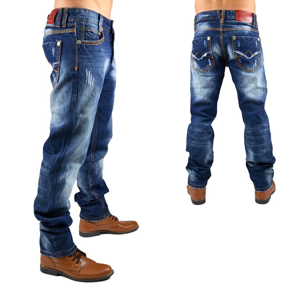 neu herren jeans hose designer vintage destroyed clubwear style dicke naht ebay. Black Bedroom Furniture Sets. Home Design Ideas