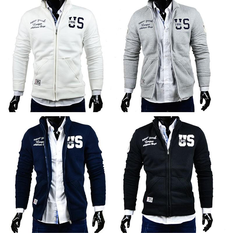 herren sweatjacke pullover hoodie zipper sweatshirt shirt kragen jacke weste ebay. Black Bedroom Furniture Sets. Home Design Ideas