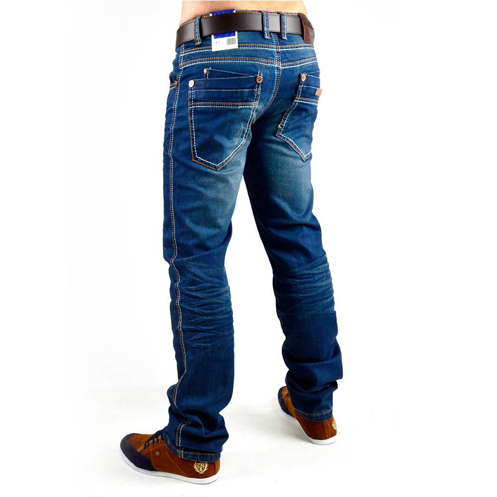 neu herren jeans hose strech vintage clubwear style slim. Black Bedroom Furniture Sets. Home Design Ideas