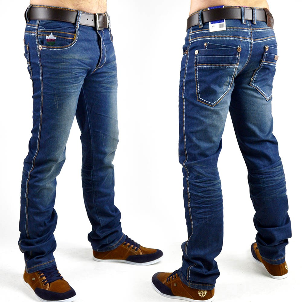 neu herren jeans hose strech vintage clubwear style slim fit eng ebay. Black Bedroom Furniture Sets. Home Design Ideas