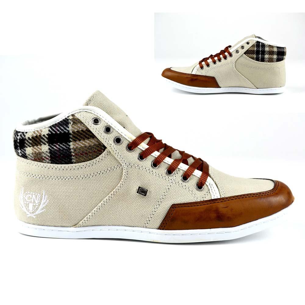 Neu Herren Schuhe Sneaker Elegante Turnschuhe hoch Hitop ...