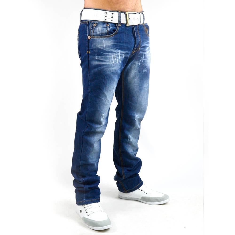 neu herren jeans hose mit dicken n hten vintage clubwear slim fit 005. Black Bedroom Furniture Sets. Home Design Ideas