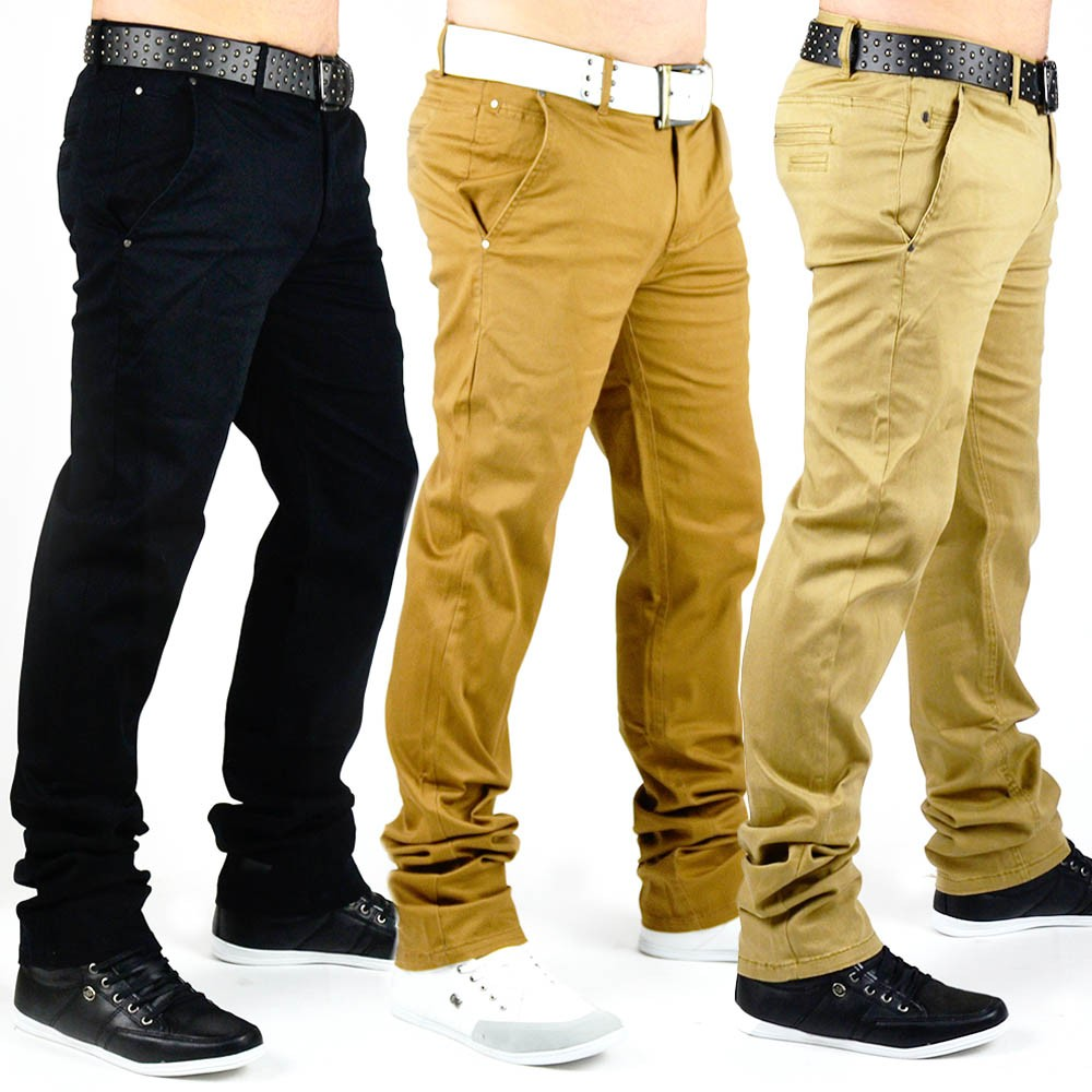 chino stil jeans hose slim fit stretch chinohose trousers. Black Bedroom Furniture Sets. Home Design Ideas