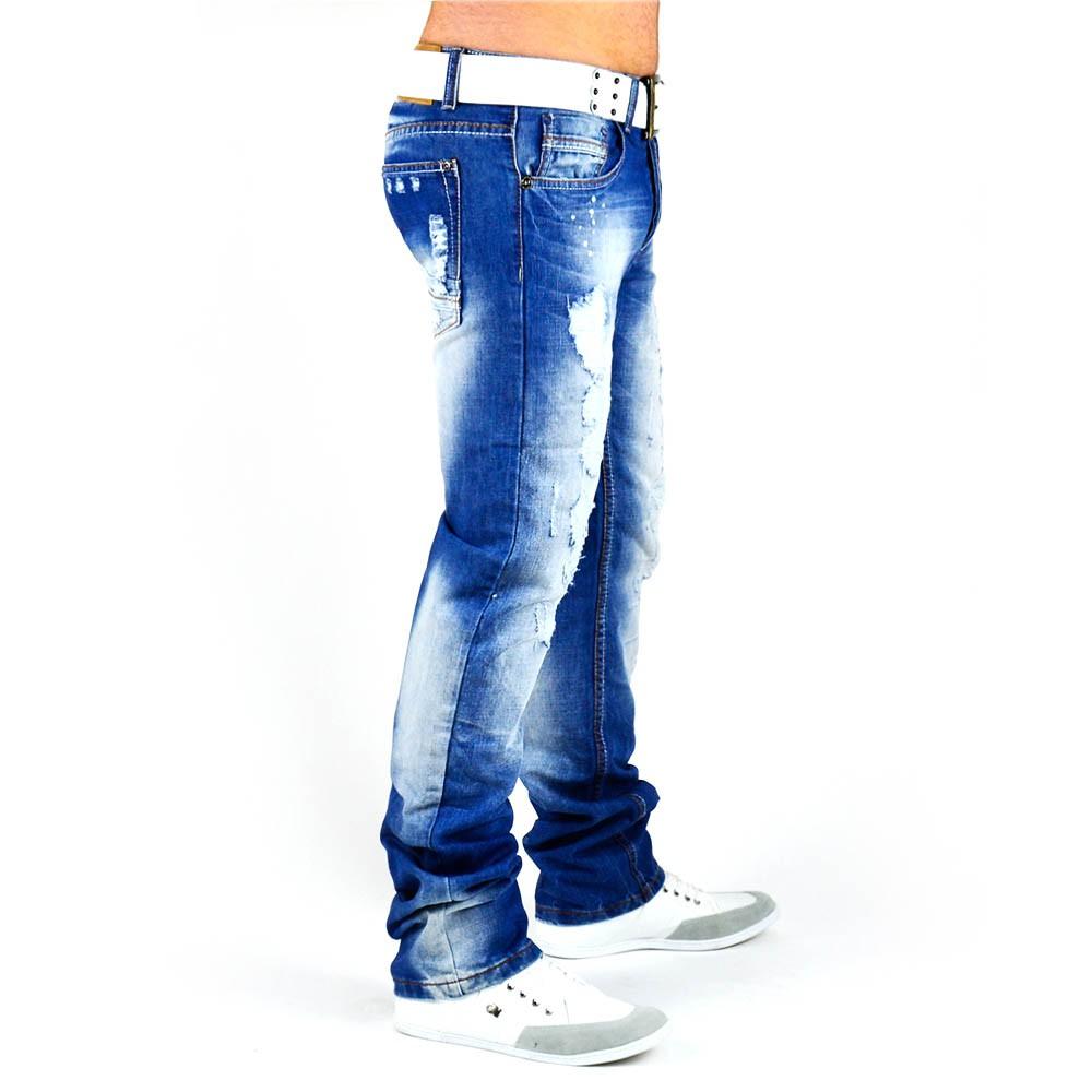 herren jeans zerrissen jeans hosen collection on ebay. Black Bedroom Furniture Sets. Home Design Ideas