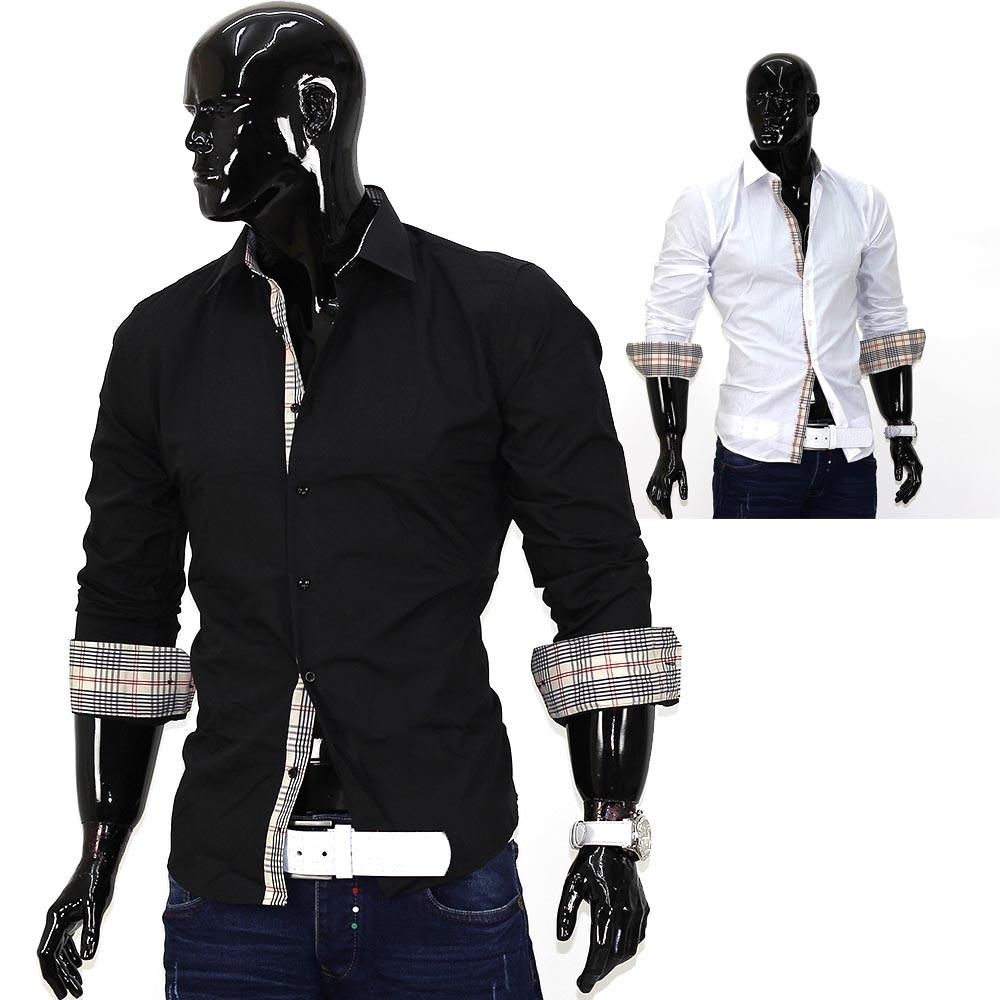 herren hemd id650 slim fit verschiedene farben herrenmode oberteile. Black Bedroom Furniture Sets. Home Design Ideas