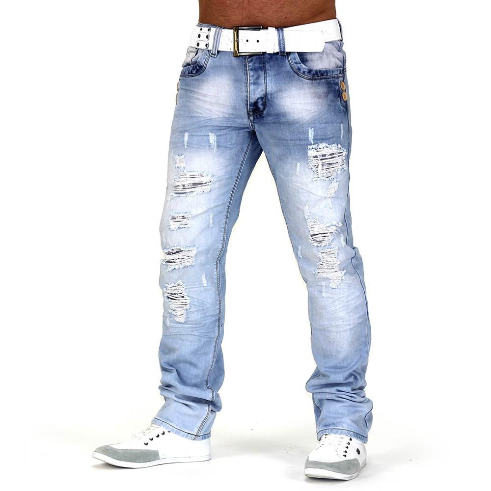 herren jeans look buff id661 slim fit gerades bein. Black Bedroom Furniture Sets. Home Design Ideas