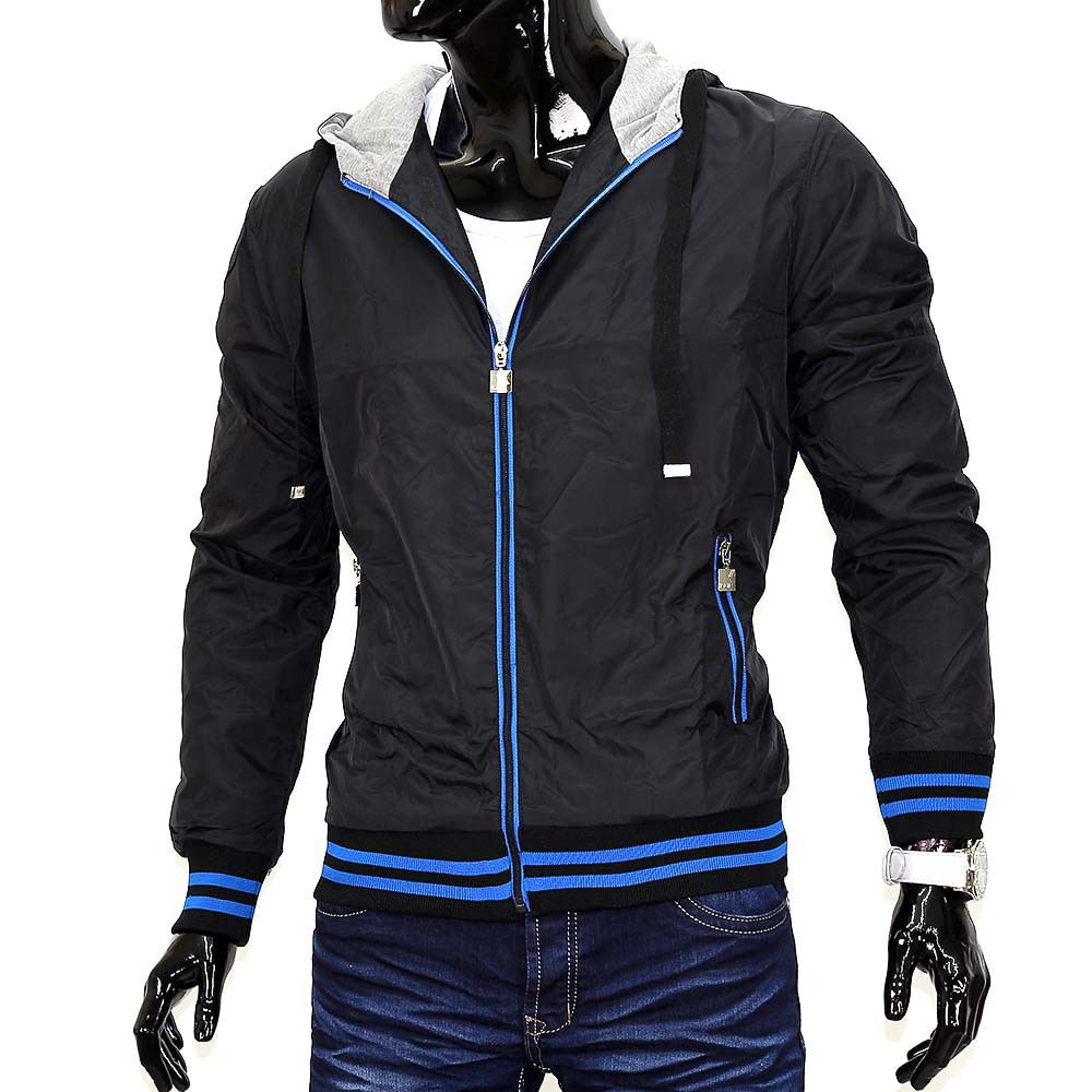 herren bergangsjacke windbreaker regenjacke jacke college windjacke mit kapuze ebay. Black Bedroom Furniture Sets. Home Design Ideas