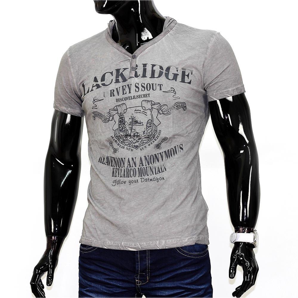 herren rich island t shirt v neck polo stretch shirt figurbetont slim. Black Bedroom Furniture Sets. Home Design Ideas