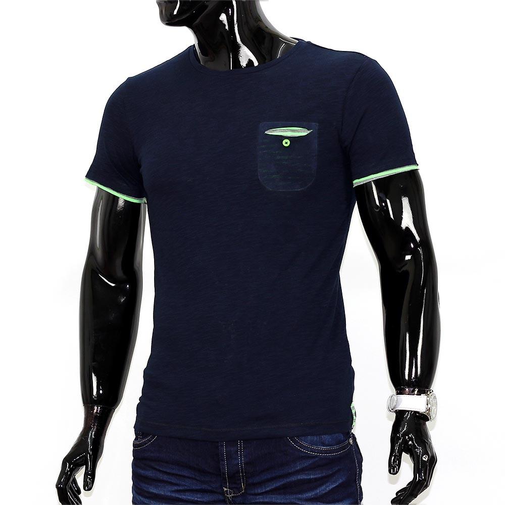 herren sommer shirt t shirt contrast polo brusttasche. Black Bedroom Furniture Sets. Home Design Ideas