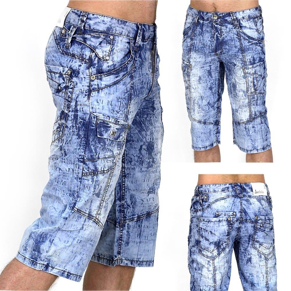 trendy herren capri jeans 2 bermuda cargo shorts kurze hose vintage short chino ebay. Black Bedroom Furniture Sets. Home Design Ideas