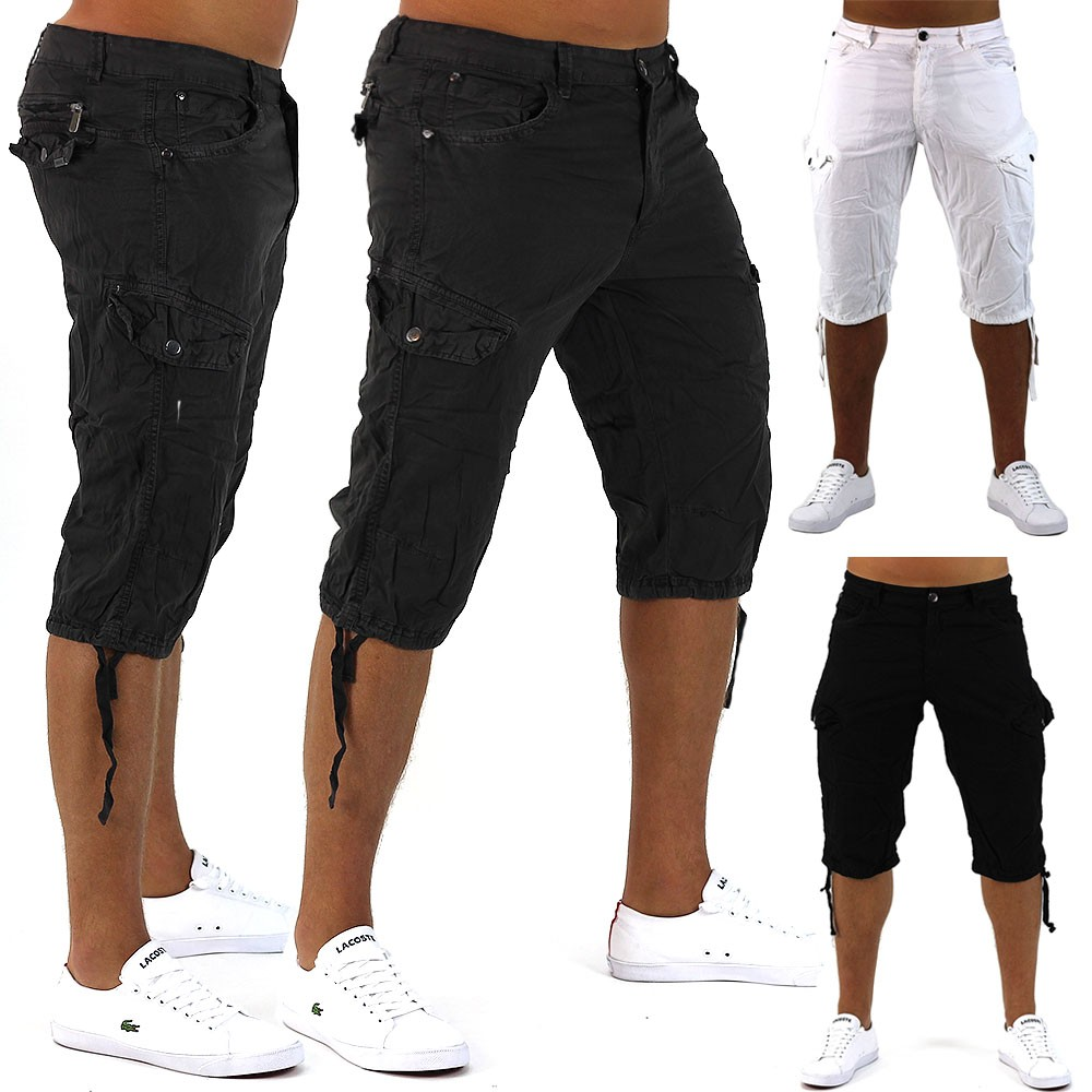 herren shorts holidays bermuda cargo capri kurze hose vintage short casual ebay. Black Bedroom Furniture Sets. Home Design Ideas