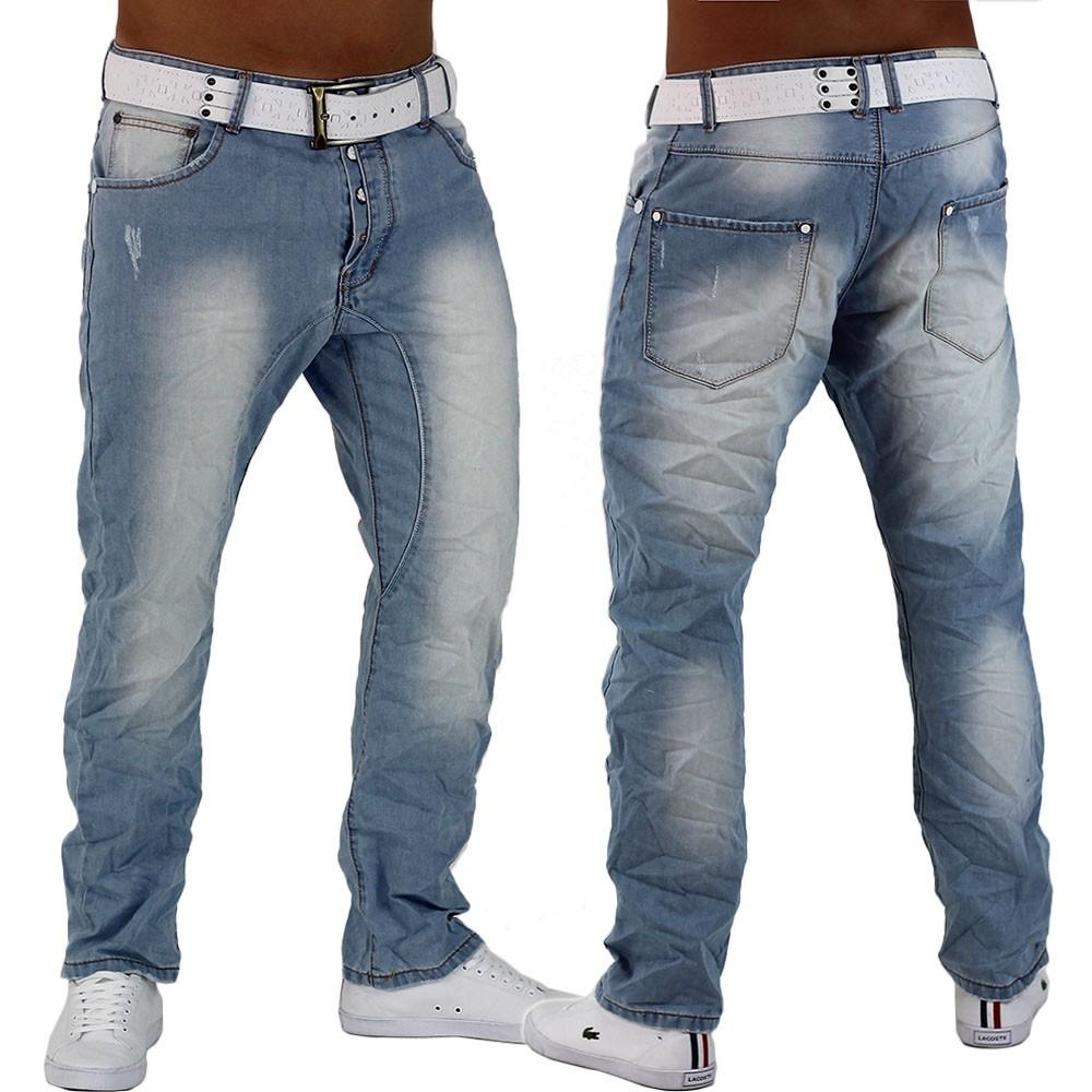 herren jeans hose hellblau denim chino slim fit boyfriend. Black Bedroom Furniture Sets. Home Design Ideas