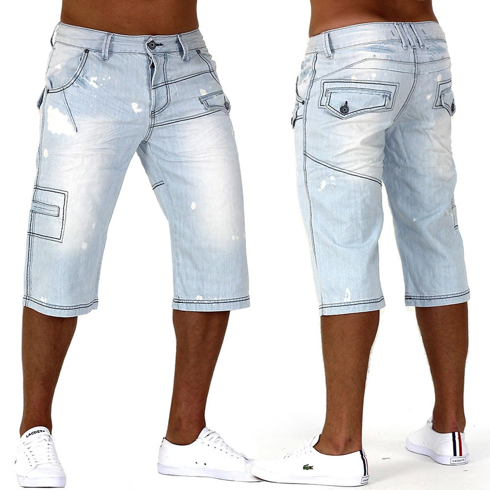 herren jeans shorts caipirinha denim cargo capri kurze hose vintage short ebay. Black Bedroom Furniture Sets. Home Design Ideas