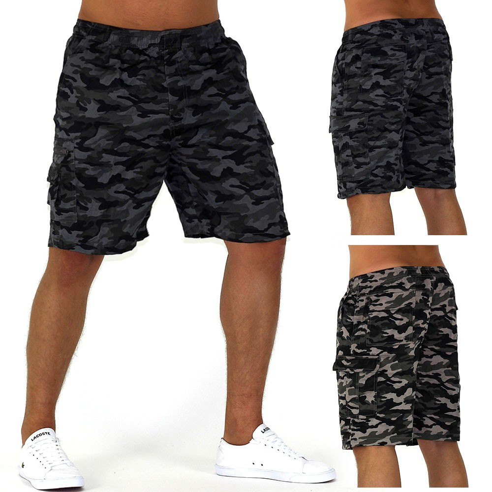 herren shorts camouflage bermuda cargo capri kurze army hose vintage short casua ebay. Black Bedroom Furniture Sets. Home Design Ideas