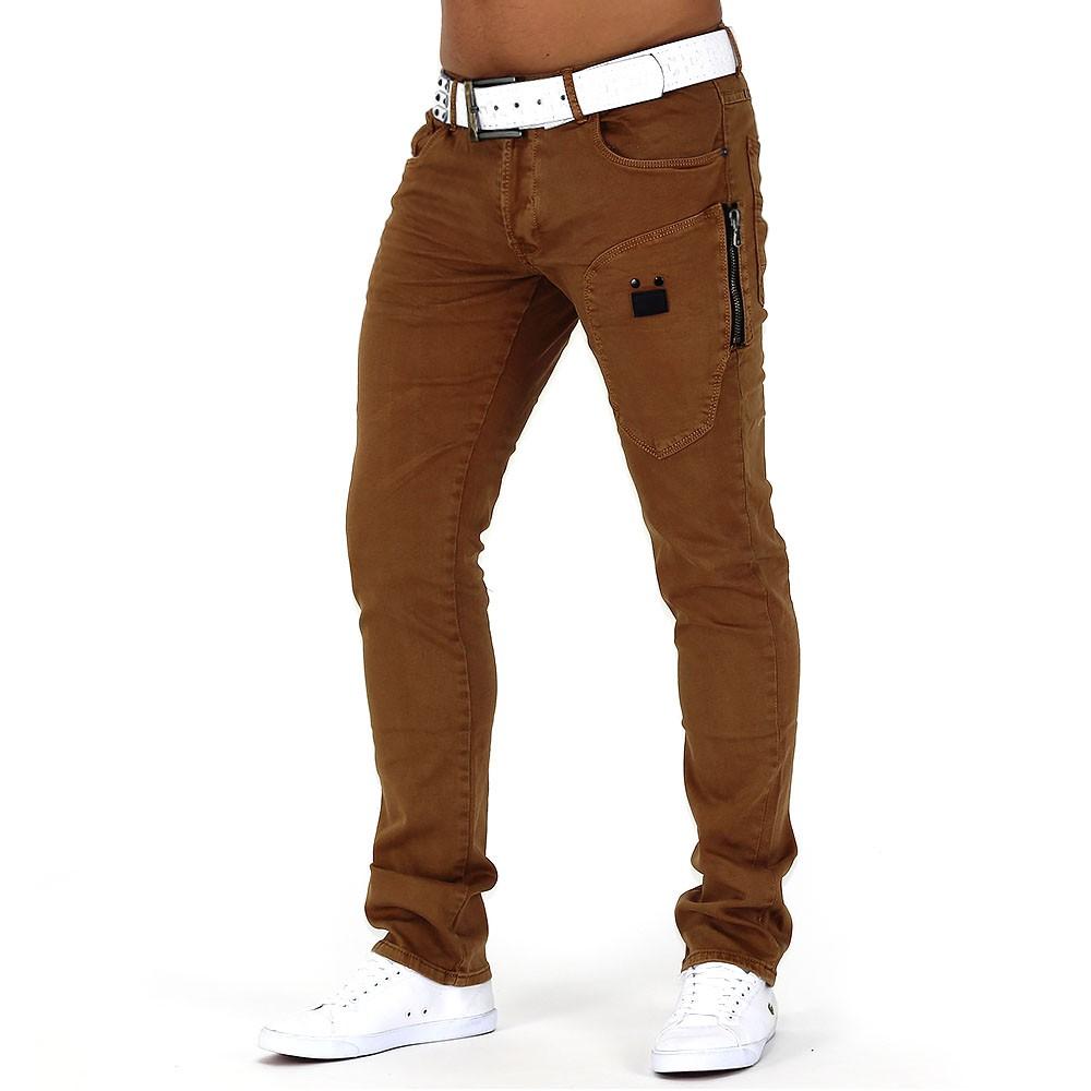 Herren Jeans Designer Hose Denim Authentic  Slim Fit Clubwear Sandstorm DE2